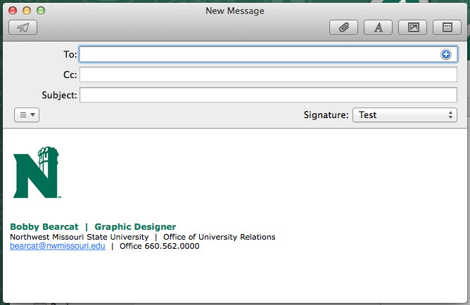 College Student Email Signature Design University Marketing and Munication