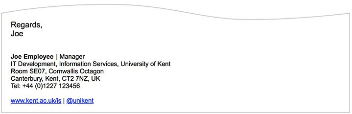 College Student Email Signature Email Signature University Of Kent