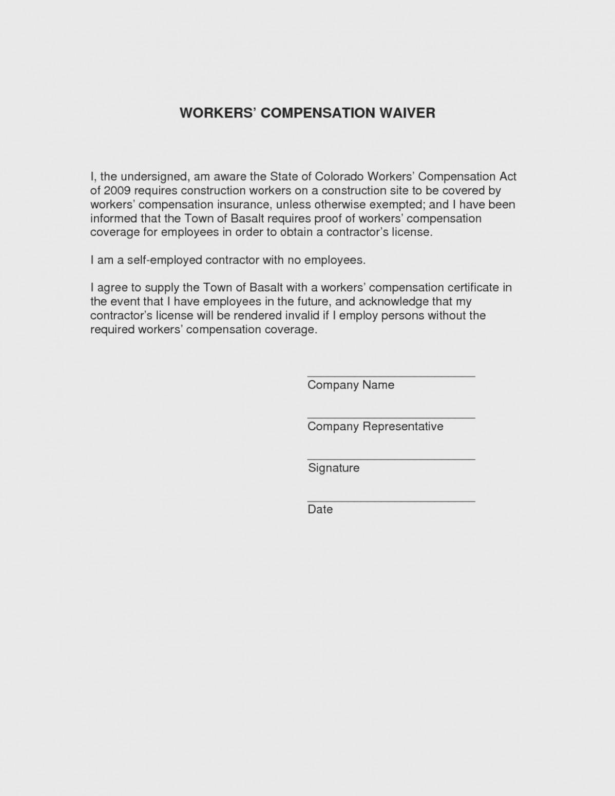 Colorado Workers Comp Waiver form 11 top Risks attending Colorado Workmans