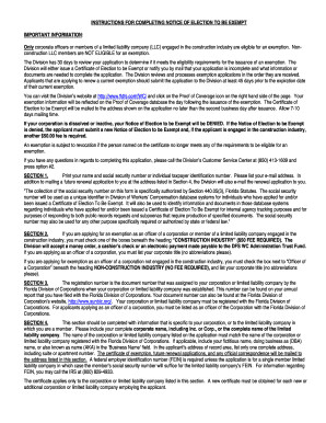 Colorado Workers Comp Waiver form S Workers Pensation Exemption form Florida