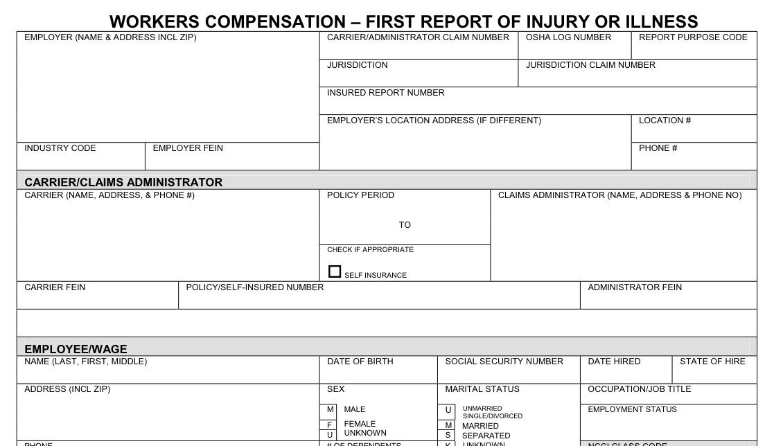 Colorado Workers Comp Waiver form Workers Pensation Workers Pensation Information form