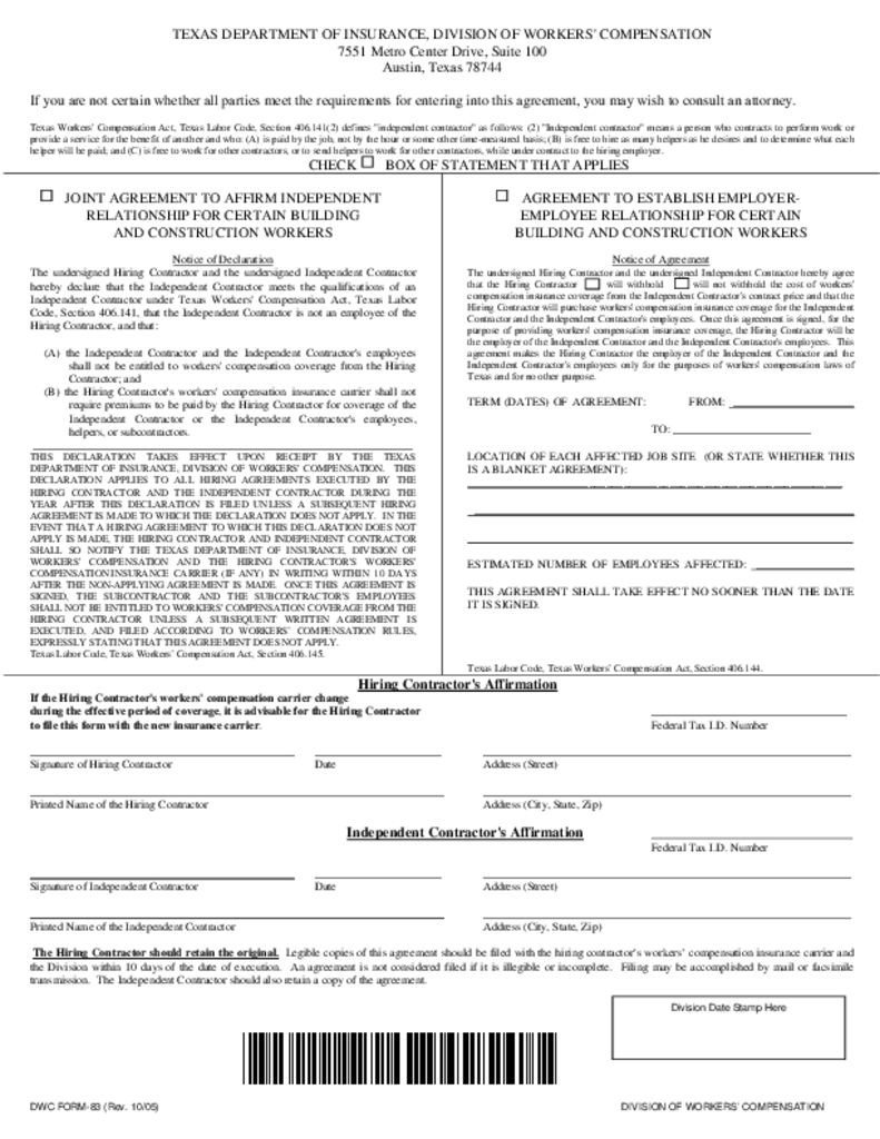 Colorado Workers Comp Waiver form Workmans P Waiver – Bauer Roofing and Construction