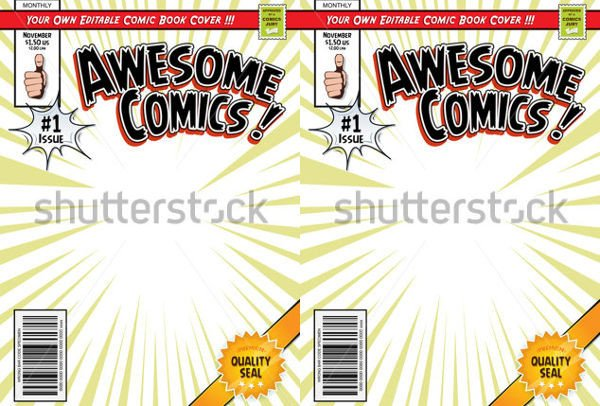 Comic Book Cover Template 31 Beautiful Book Cover Templates Free Sample Example