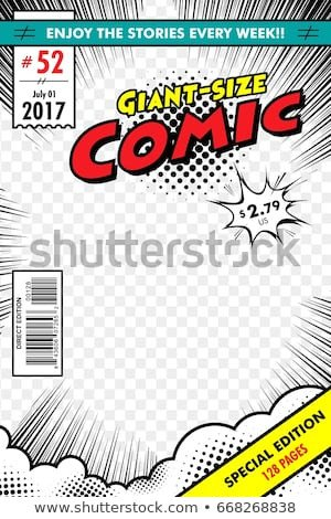 Comic Book Cover Template Cover Stock Royalty Free & Vectors