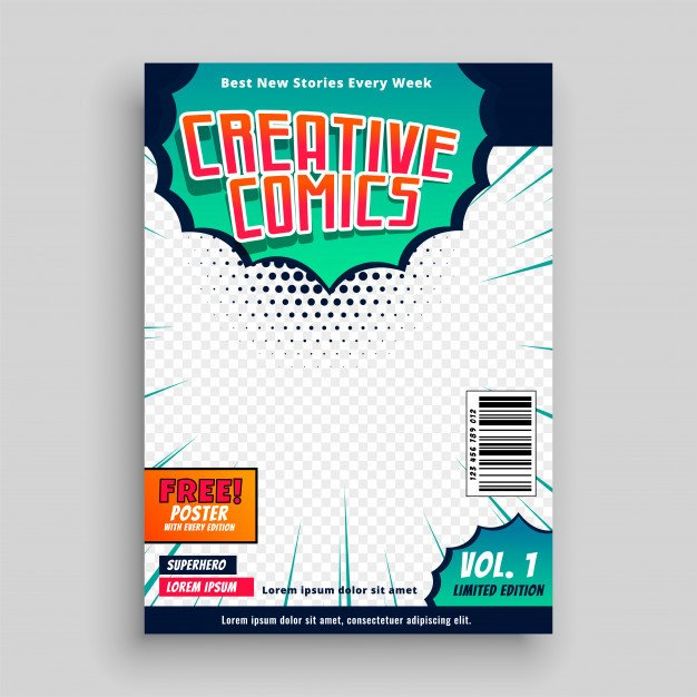 Comic Book Cover Template Ic Book Cover Template Design Vector