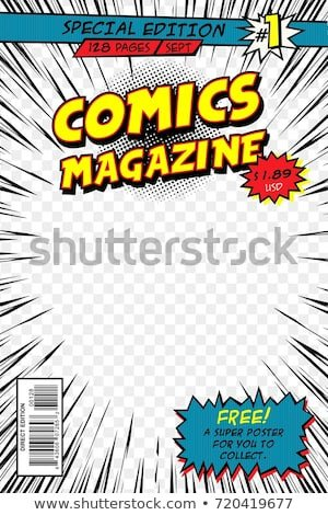 Comic Book Cover Template Ic Book Cover Template Vector Art Stock Vector