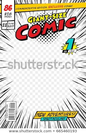 Comic Book Cover Template Ic Book Stock Royalty Free & Vectors