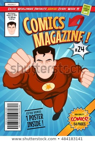 Comic Book Cover Template Ic Stock Royalty Free & Vectors