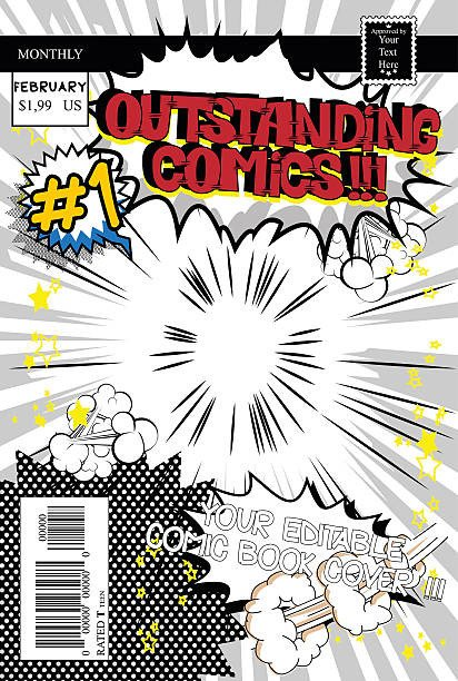 Comic Book Cover Template Royalty Free Ic Book Clip Art Vector