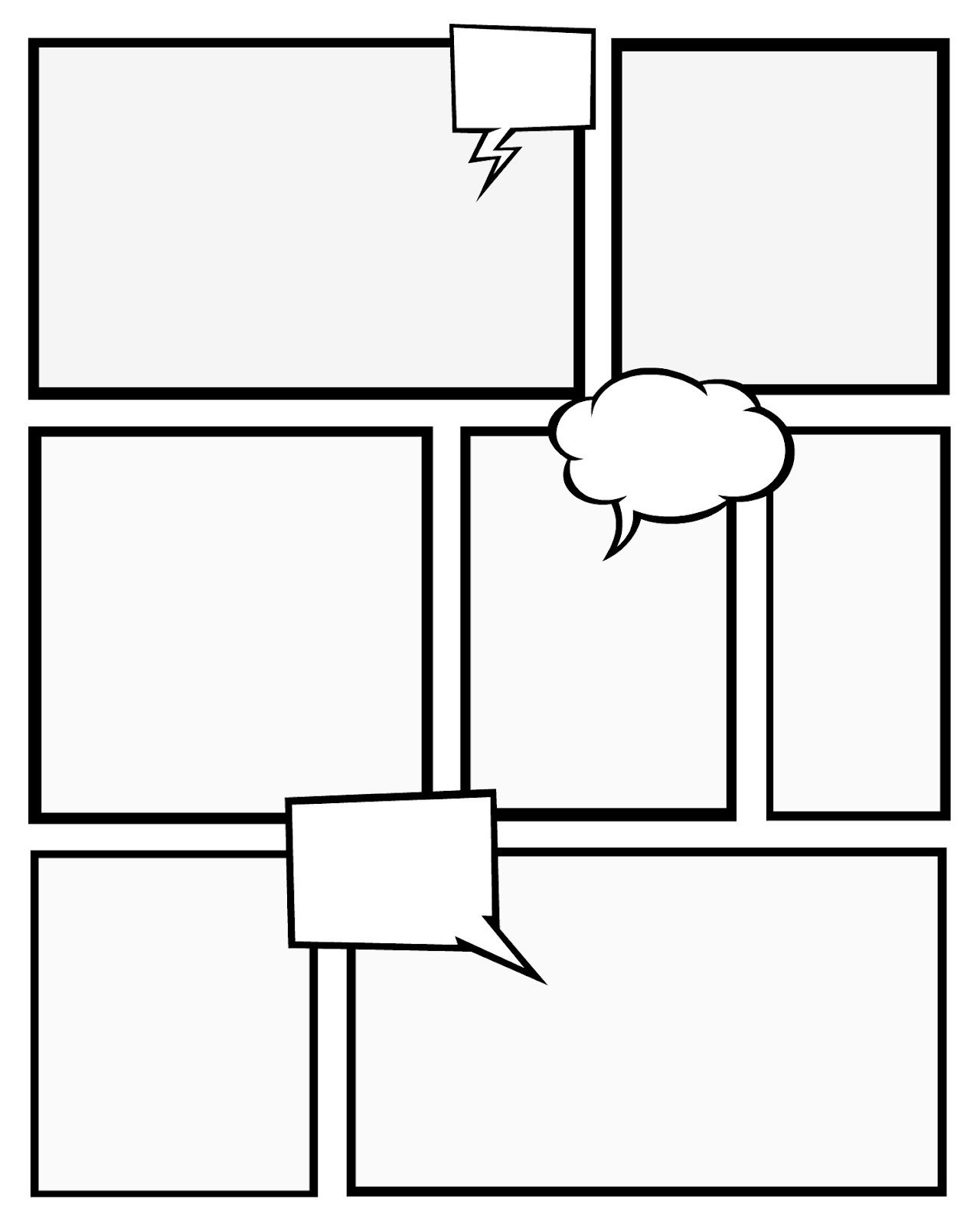 Comic Book Page Template 7 Best Of Ic Book Templates Printable Free
