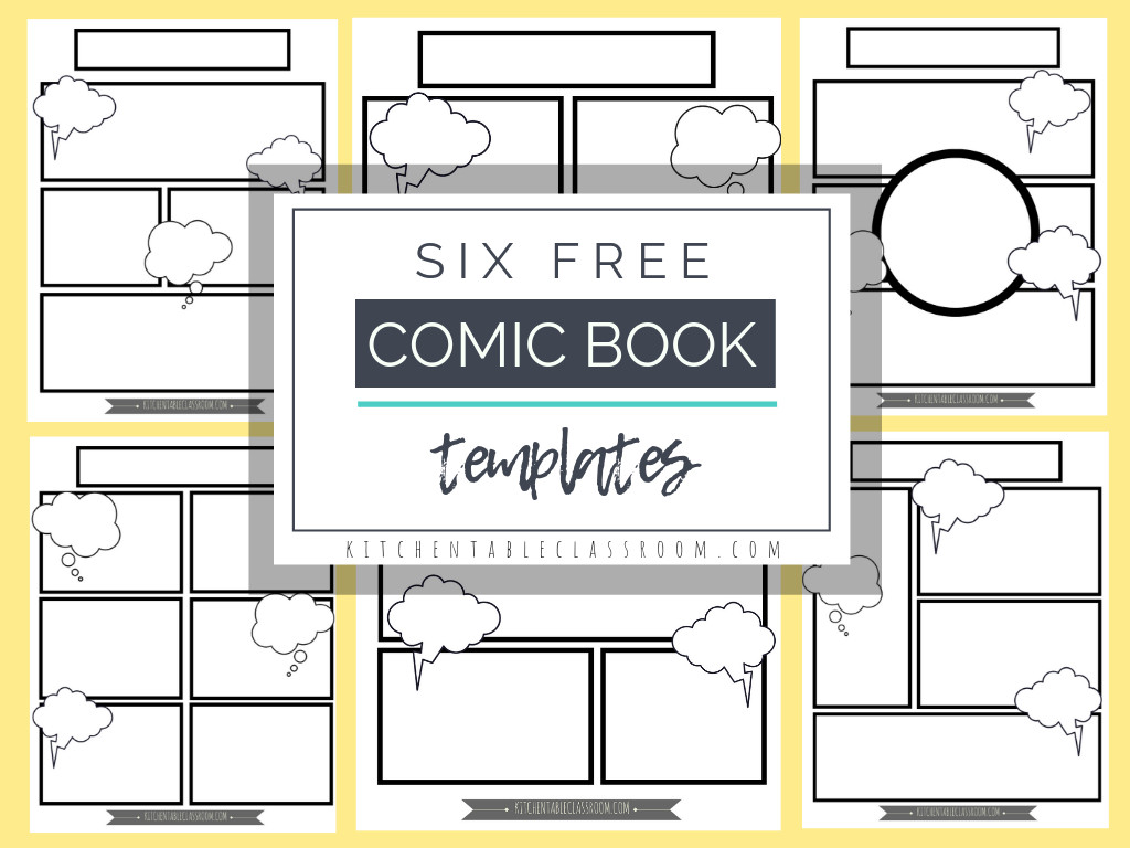 Comic Book Page Template Ic Book Templates Free Printable Pages the Kitchen