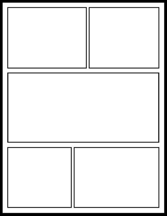 Comic Book Page Template Ic Template for My Ics Unit
