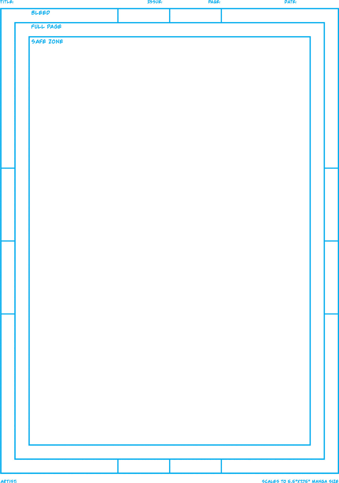 Comic Book Page Template Jesse Acosta S Blog Build Your Own Mini Ic