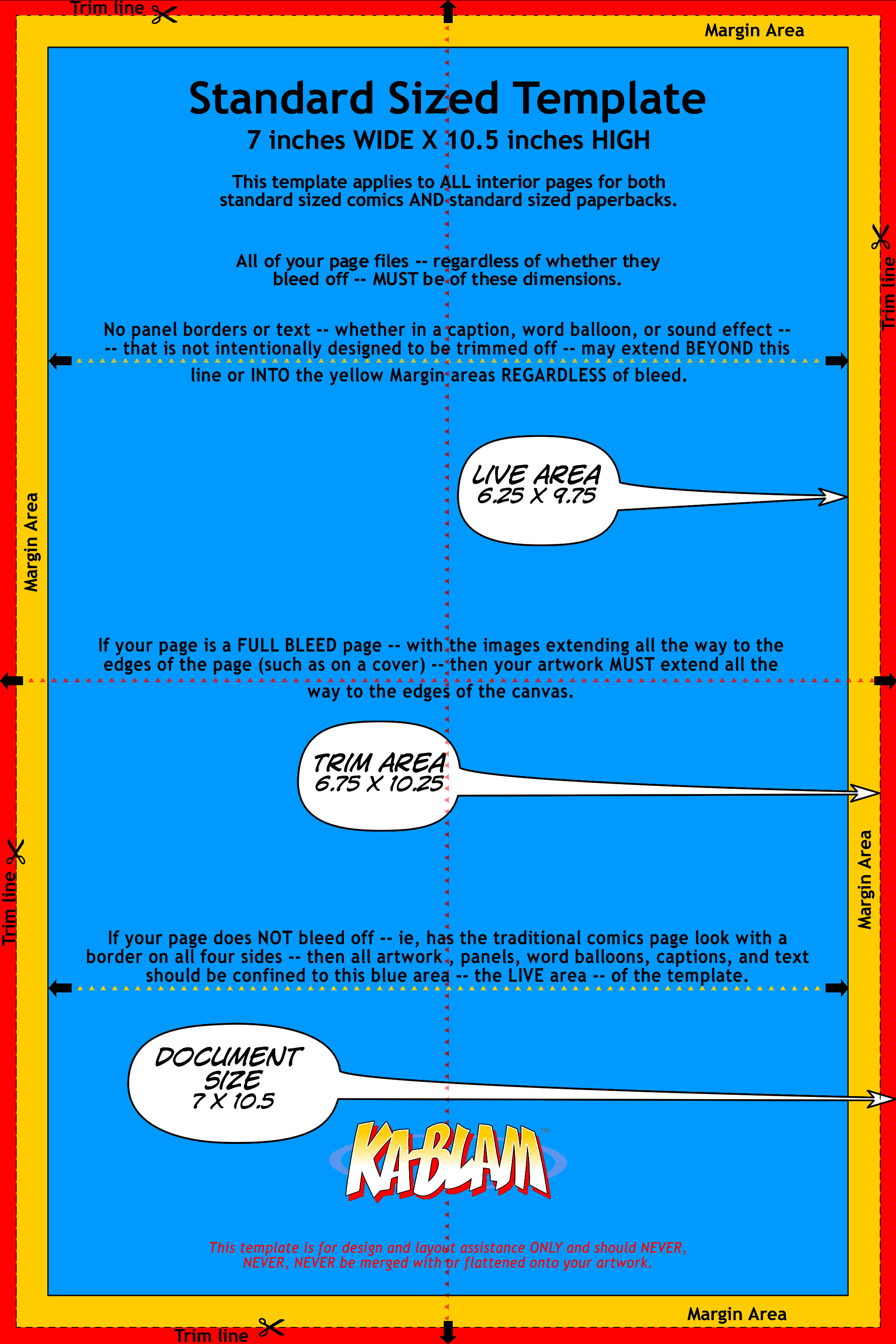 Comic Book Page Template Standard Sized Page Template