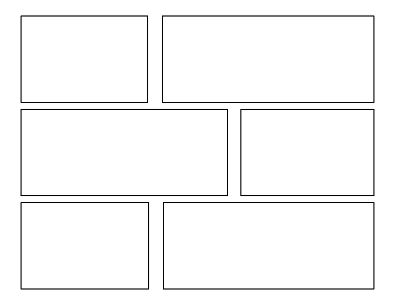 Comic Book Panel Template 3rd Grade First Batch Of Ic Templates