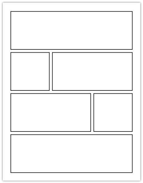 Comic Book Panel Template Cartoon Squares Google Search