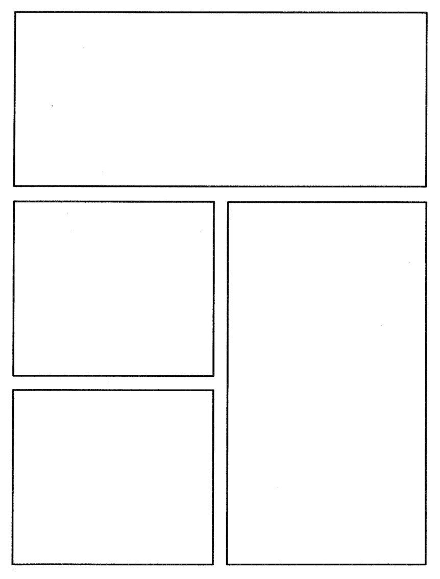 Comic Book Panel Template Ic Book Template