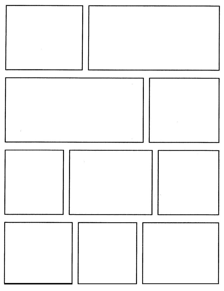 Comic Book Panel Template Pin by M nowak On Mon Core