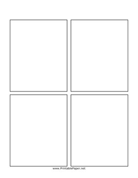 Comic Book Panel Template Printable Blank Ic Book Page
