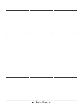 Comic Book Panel Template Printable Three Panel Ic Page