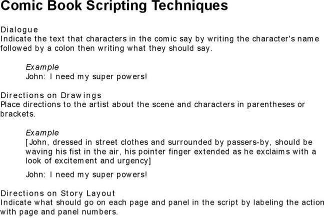Comic Book Script Template 7 Script Writing Templates Free Download