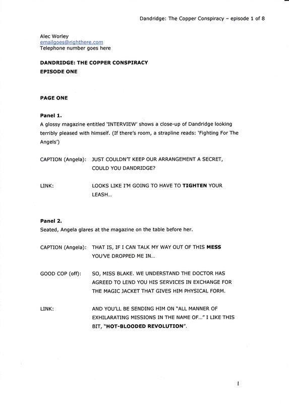 Comic Book Script Template How to Write A Ic Script format