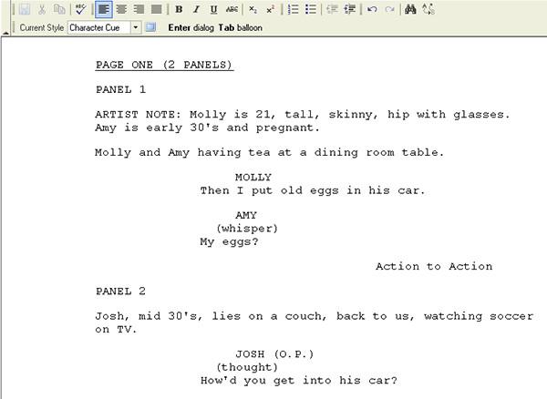 Comic Book Script Template Ic Book Script Template