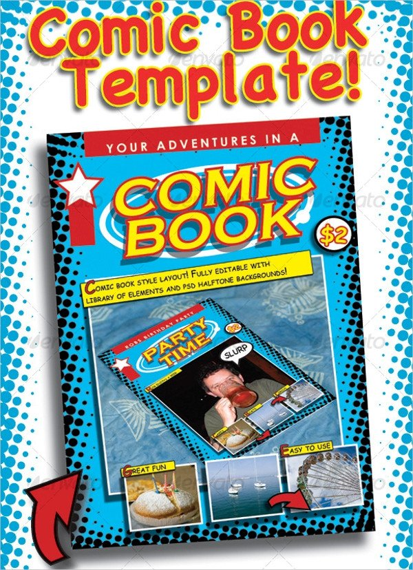 Comic Book Template Photoshop 15 Ic Book Templates Psd Vector Eps