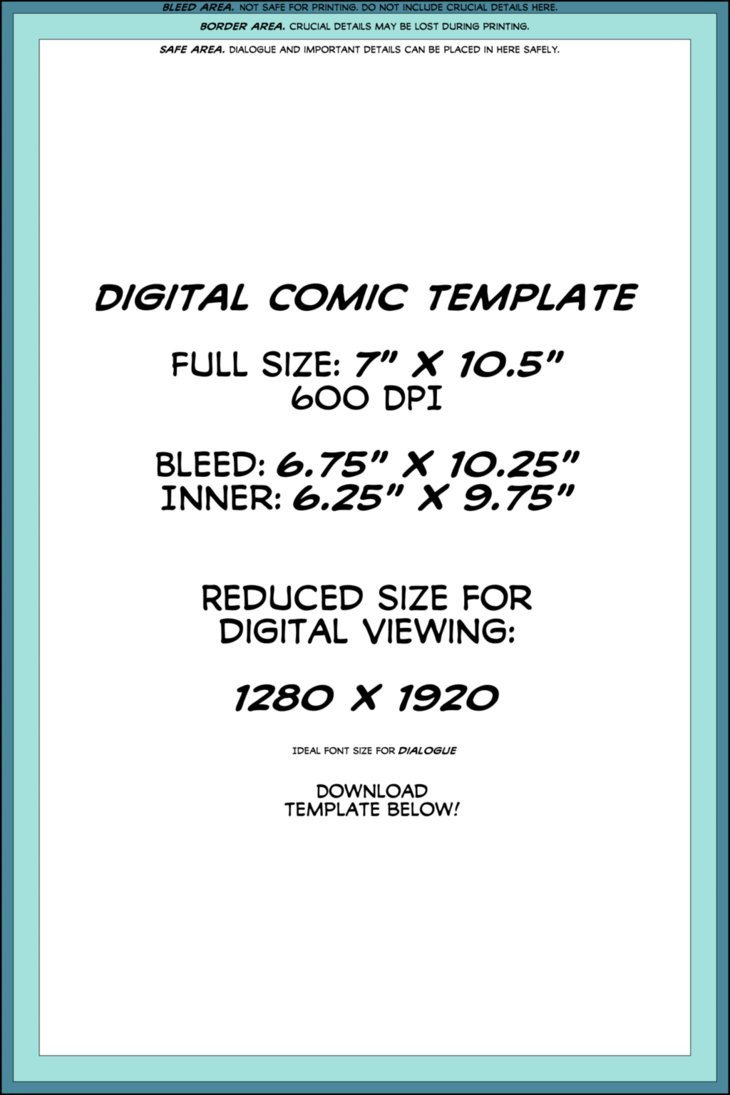 Comic Book Template Photoshop Digital Ic Page Template by Lapinbeau On Deviantart