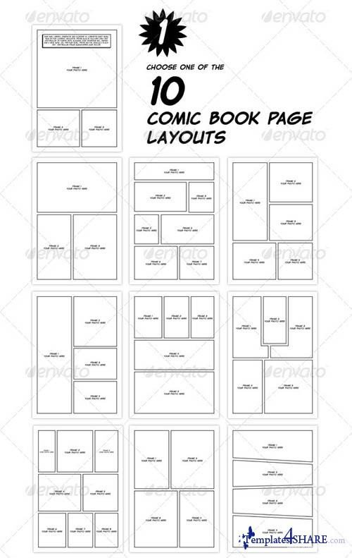 Comic Book Template Photoshop Free Psd Template File Page 44 Newdesignfile