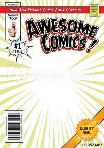 Comic Book Template Photoshop Ic Book Cover Template Buy This Stock Vector and