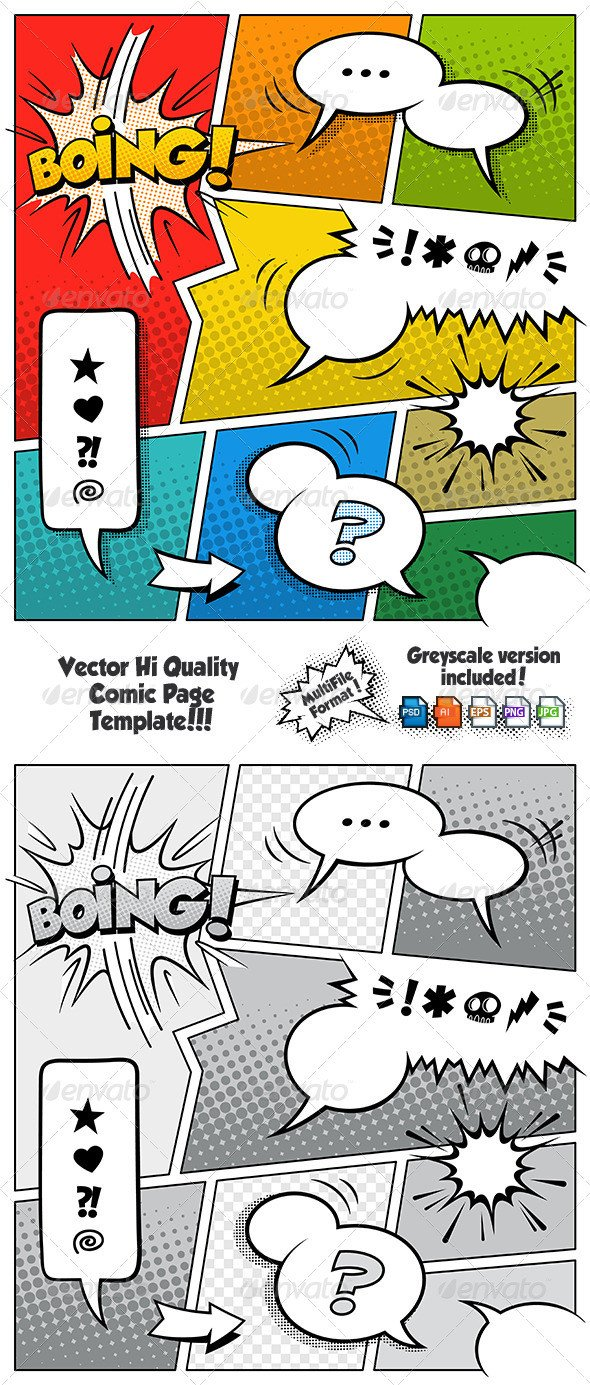 Comic Book Template Photoshop Ic Book Speech Bubble Shop Brushes Dondrup