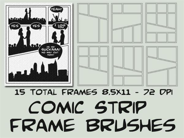 Comic Book Template Photoshop Ic Illustration Brushes