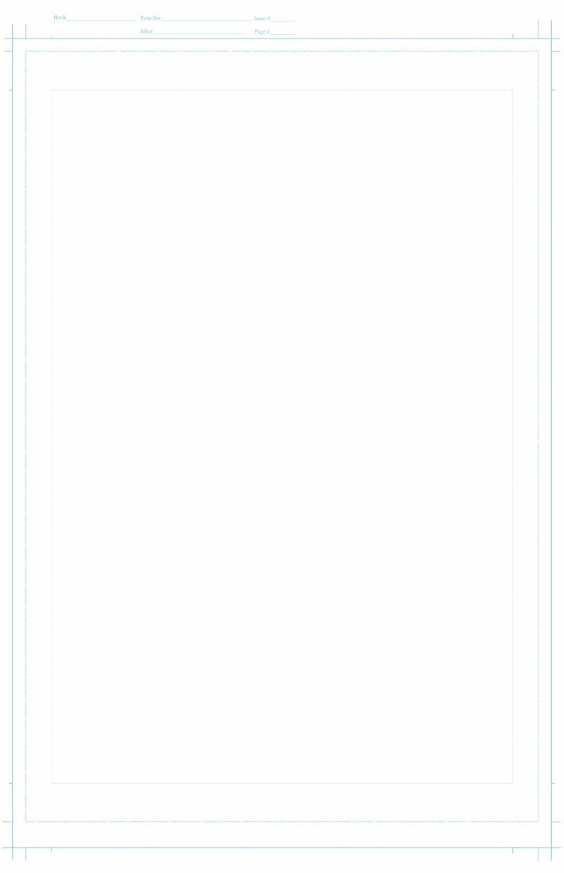 Comic Book Template Photoshop Ic Page Template by Coconutmikenike On Deviantart