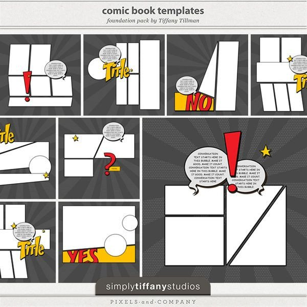 Comic Book Template Word 34 Best Images About Superhero Scrapbooking Supplies On