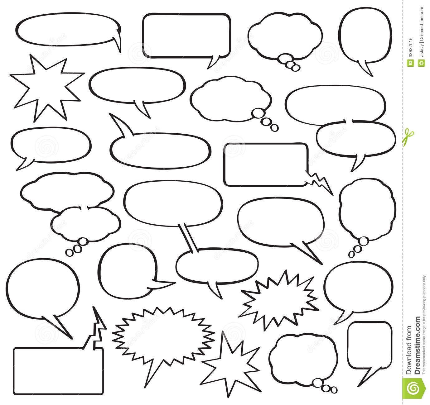 Comic Book Template Word Blank Ic Strip Speech Bubbles Template School