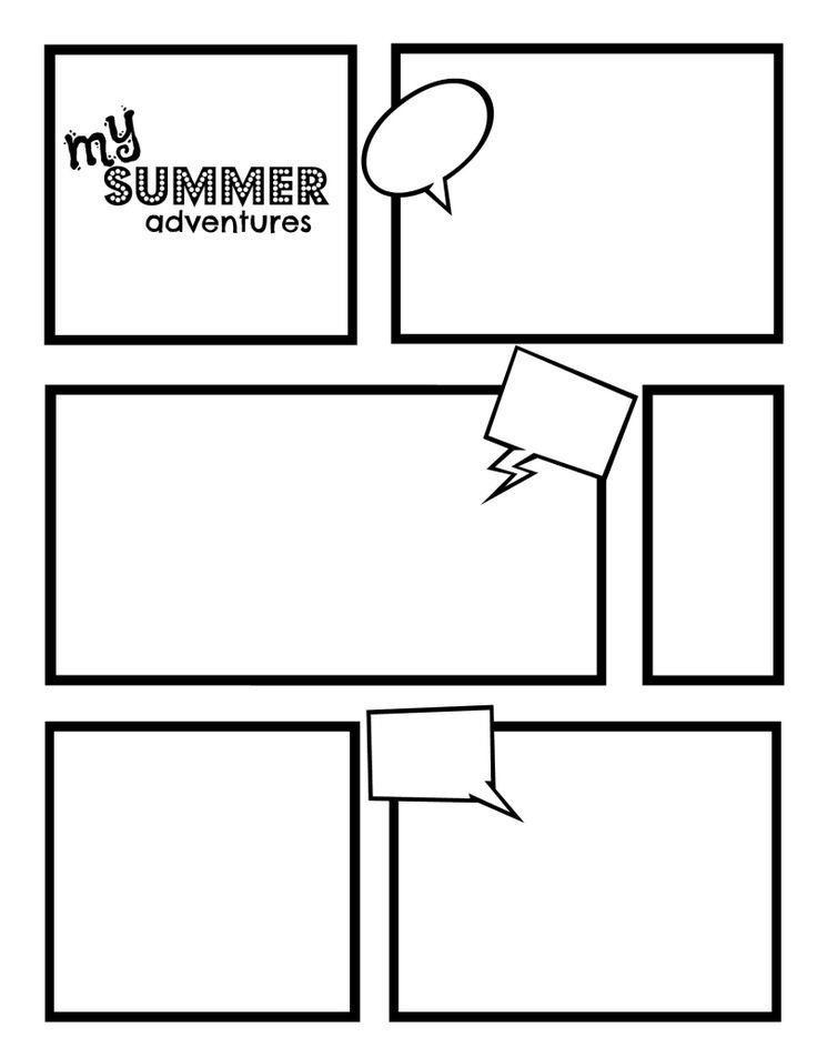 Comic Book Template Word Ic Strip Template