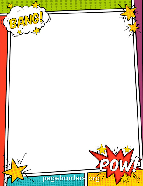 Comic Book Template Word Pin by Muse Printables On Page Borders and Border Clip Art