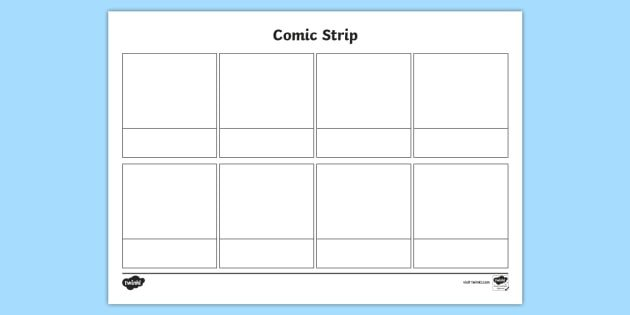 Comic Strip Template Word Free Blank Ic Strips Template Writing Position