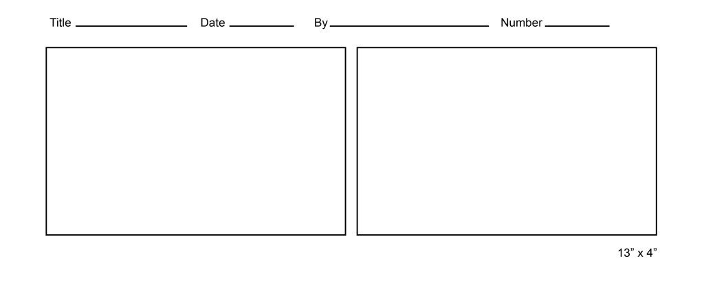 Comic Strip Template Word Free Ic Strip Template for Kids