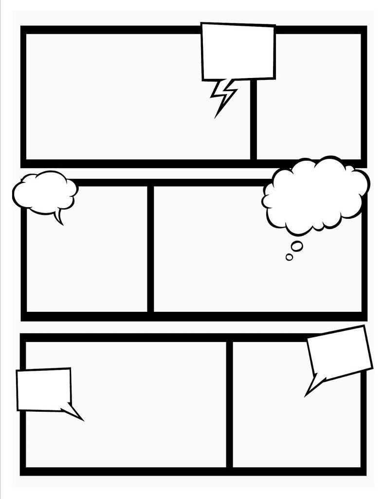 Comic Strip Template Word Ic Book Template