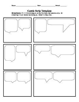 Comic Strip Template Word Ic Strip Template by Keith Piirto