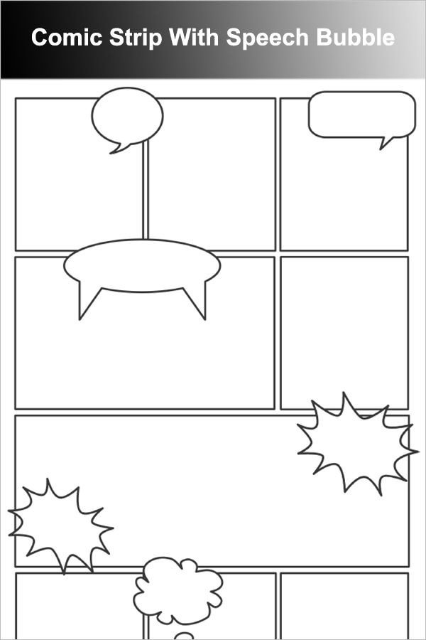 Comic Strip Template Word Ic Strip with Speech Bubble Art Careers Unit