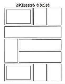 Comic Strip Template Word Make A Ic Strip with Spelling Words