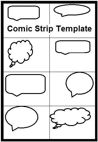 Comic Strip Template Word Narration Ideas Booklet