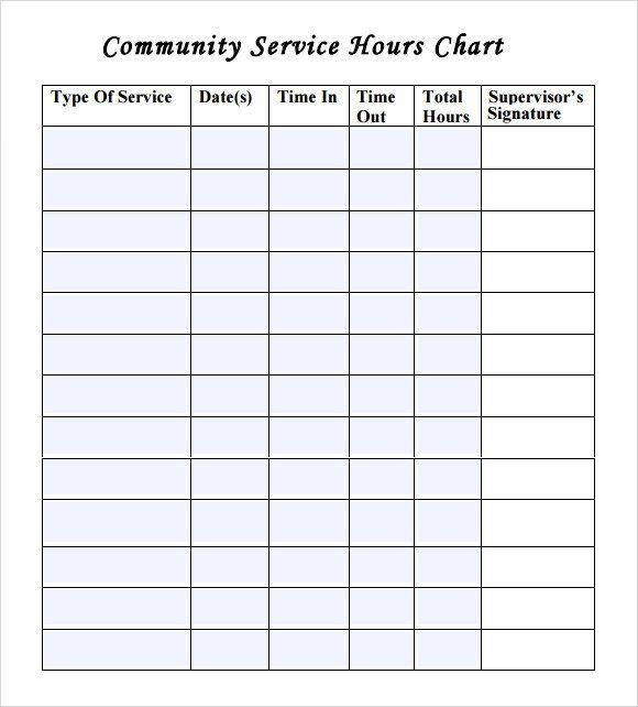 Community Service Hours Template 12 Sample Volunteer Timesheet Templates Pdf Word