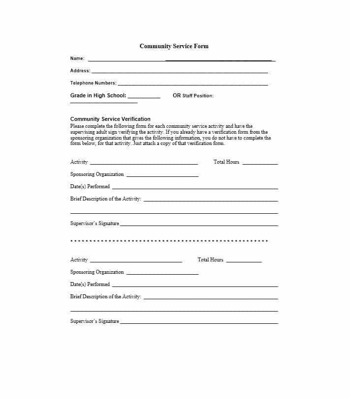 Community Service Letter Template Munity Service Letter 40 Templates [ Pletion