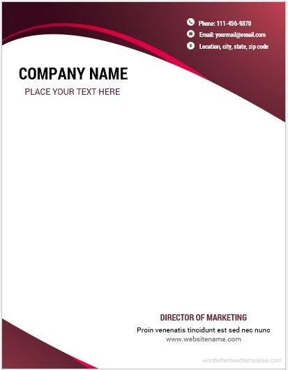 Company Letterhead Template Word 10 Best Letterhead Templates Word 2007 format