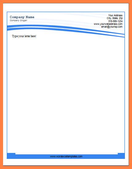 Company Letterhead Template Word 10 Ms Word Letterhead Template