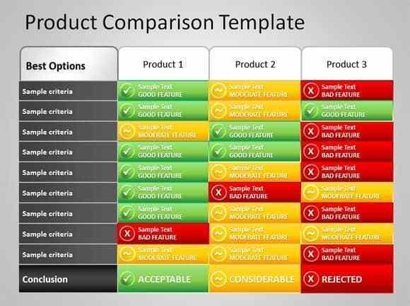 Comparison Chart Template Excel 8 Product Parison Templates Excel Excel Templates